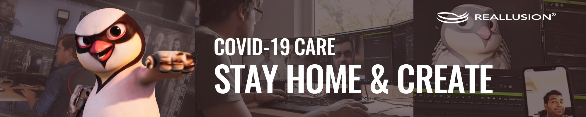 Reallusion COVID-19 CARE - Stay Home & Create