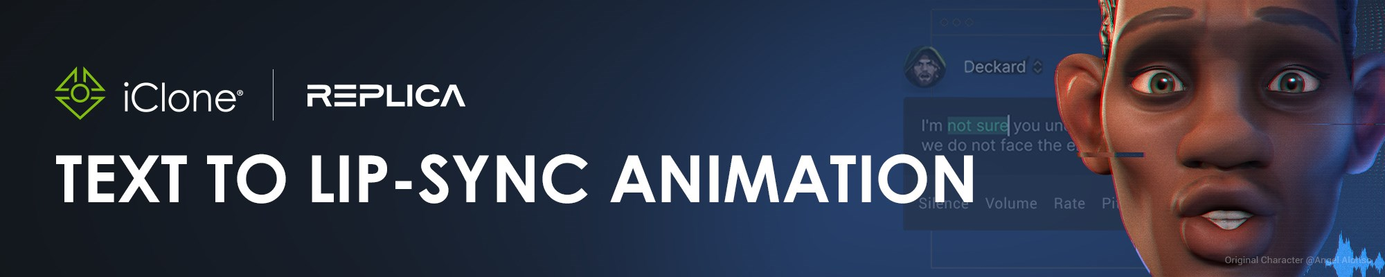 iClone & Replica Studios - Text to Lip-sync Animation
