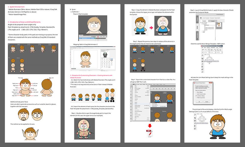 CrazyTalk Animator2 Content Bonus: Buddy Templates