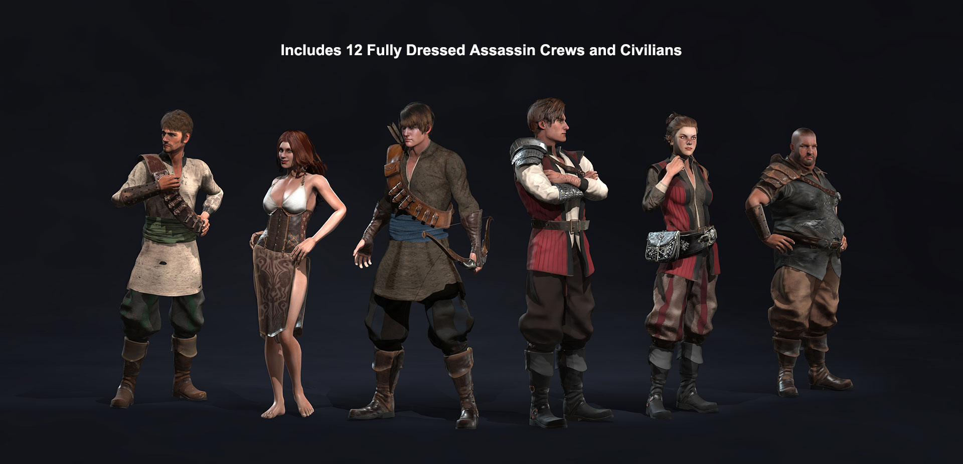 Character Creator Content Pack- Fantasy Playset - Assassins