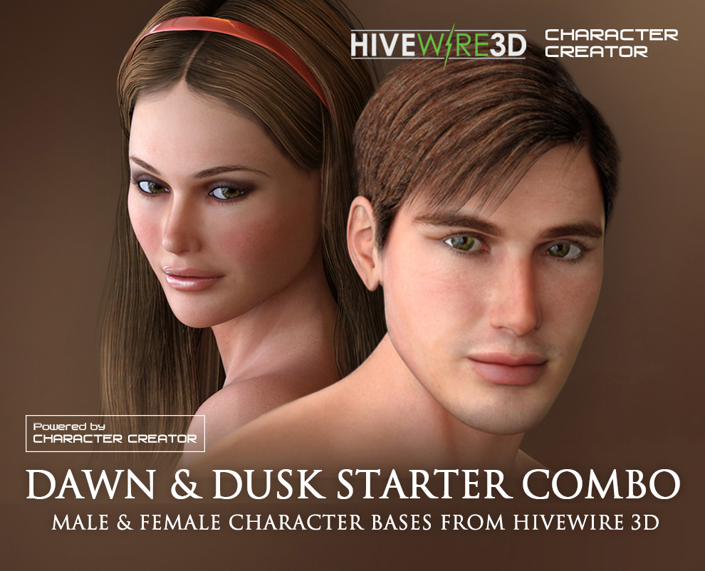 character creator content pack dawn dusk starter combo male