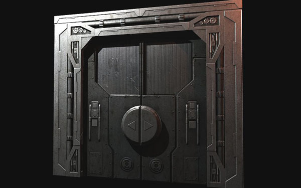 Sci Fi Corridors Building