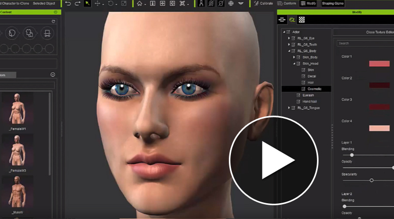 Character creator design unlimited 3d characters iclone Make your own 3d shapes online