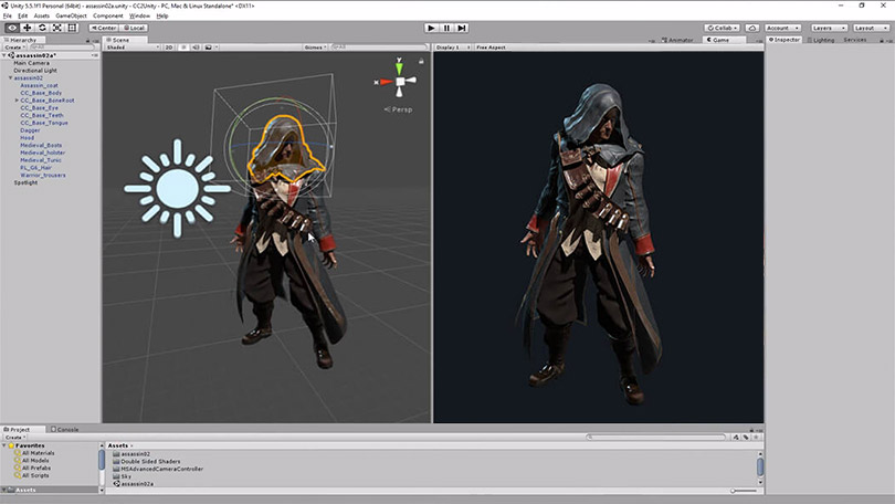 Character Design Unity : D characters for real time engines character creator