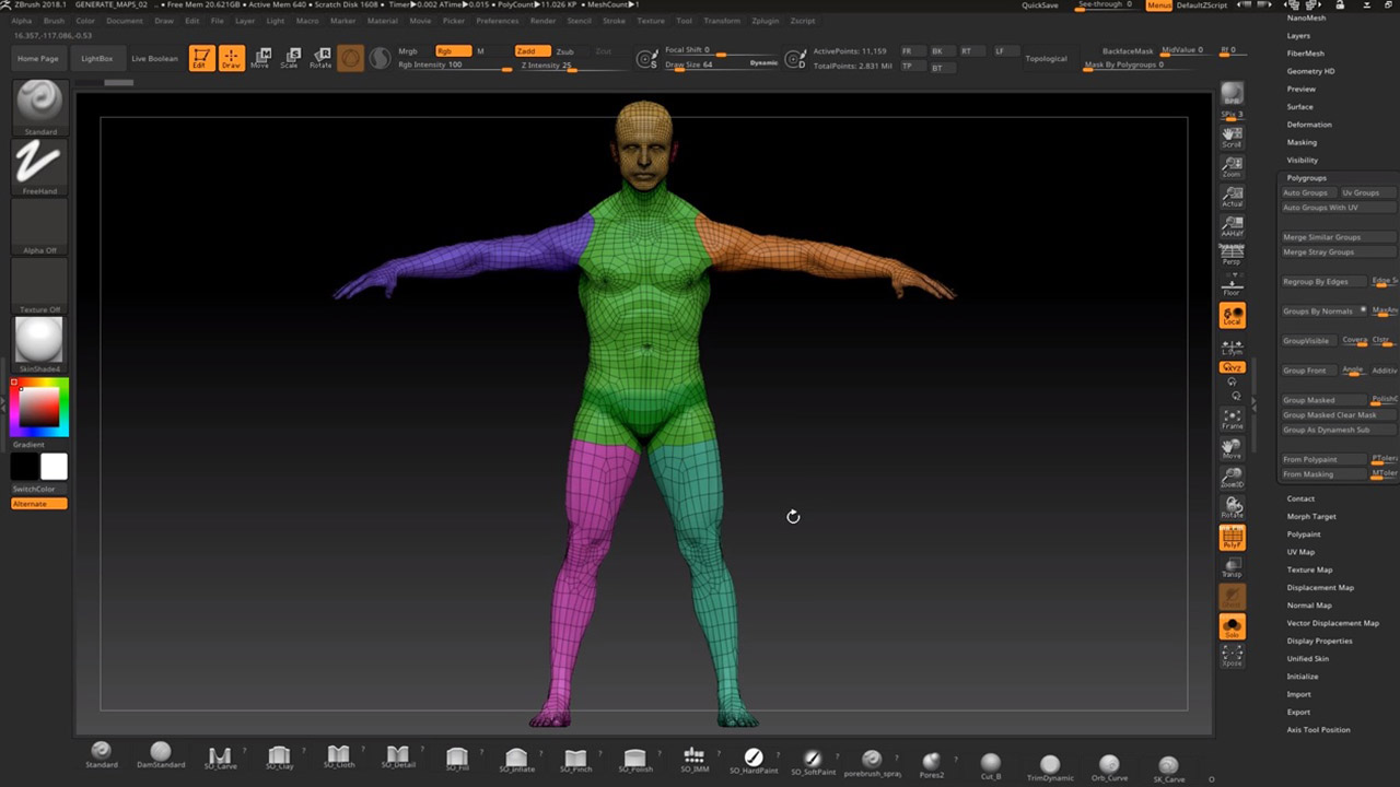 3D Scan Model to Animatable CC Character Workflow