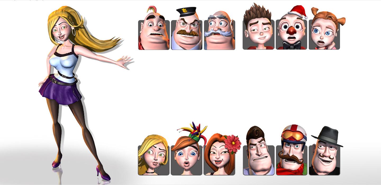 iClone content - Toon Maker - 3d cartoon model - avatar creator