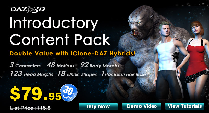 DAZ Introductory Content Pack