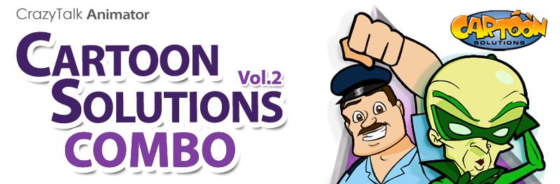 crazytalk animator cartoon solutions combo vol 2