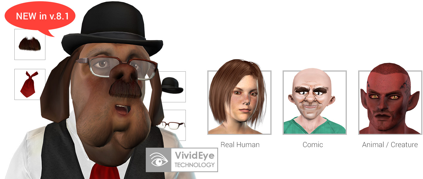 Stylized avatars vivid eyes crazytalk