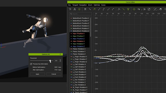 Animation Curve Editor for iClone