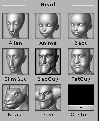 full head morph