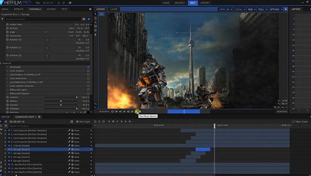 Real time animation evolves with 3d video compositing iclone hitfilm films to 30 second youtube videos with hitfilm pros industry standard editing software composite virtual 3d elements for sci fi thrillers ccuart Images
