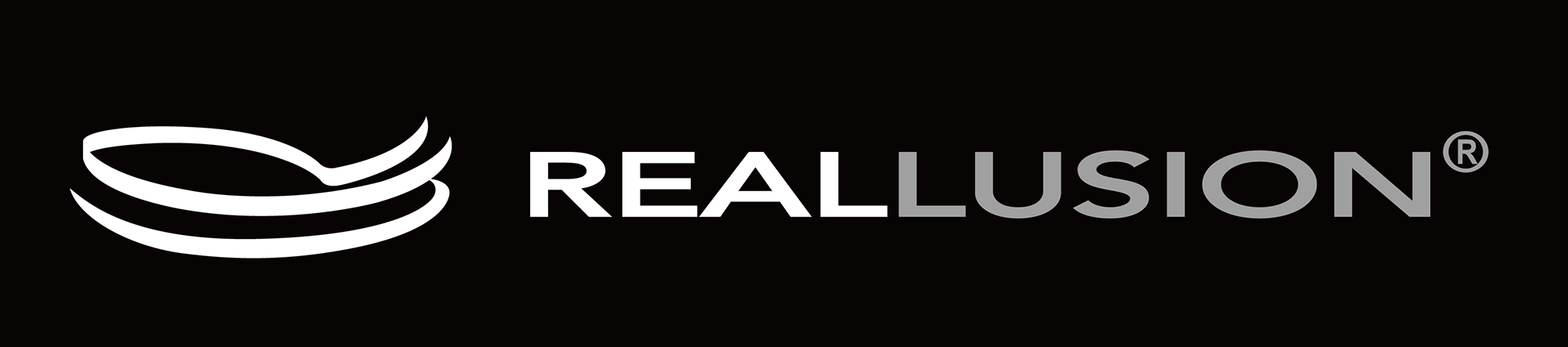 reallusion logo–black vertical grayscale