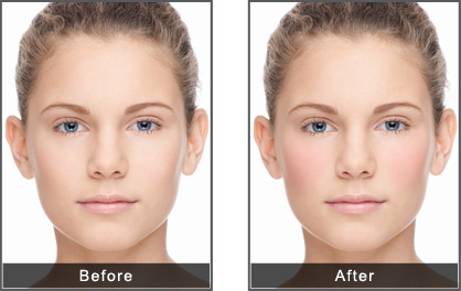 blush before and after. make your face glow with beautiful blush before and after
