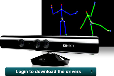 Login to download Kinect SDK Beta