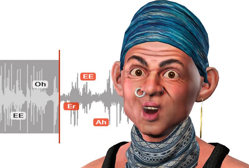 自動聲音唇形同步分析 - CrazyTalk